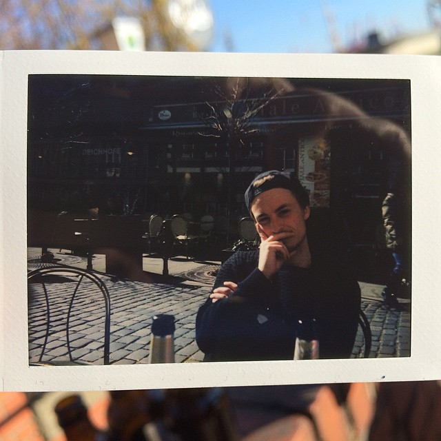 A picture of a picture @essiixx made from Marvin, she's a pro! #Polaroid